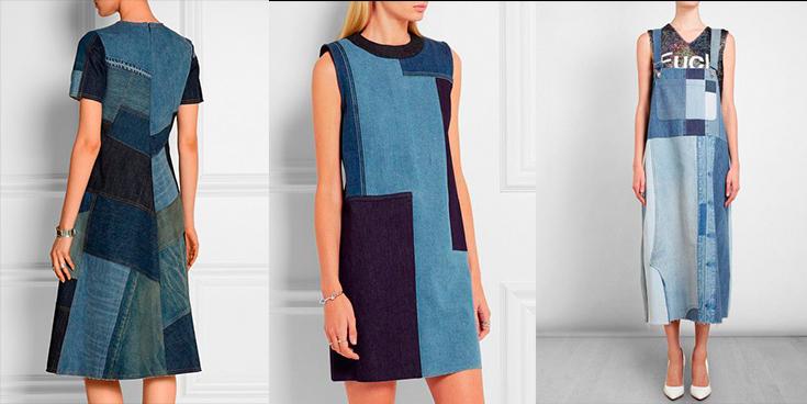 Color block - modelos usandos vestidos com blocos de cores