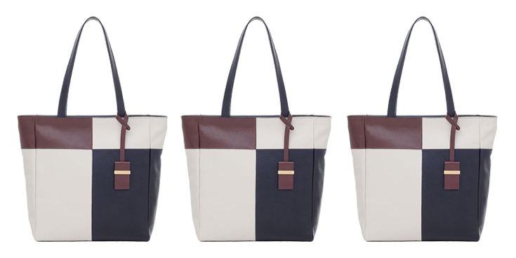 Bolsa Smartbag Couro Tiracolo Off White/Tabaco/Preto