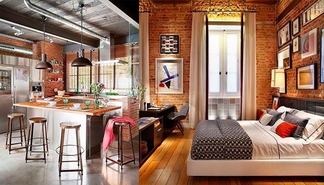 Decoração de ambientes em casa com tons terrosos.